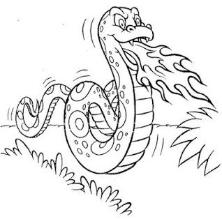 Folclore brasileiro - desenho para imprimir e colorir – saiba o nome de cada personagem folclórico. Boi Tata