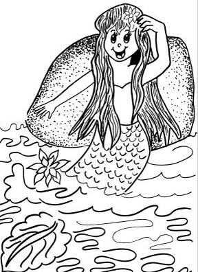 Folclore brasileiro - desenho para imprimir e colorir – saiba o nome de cada personagem folclórico. Iara