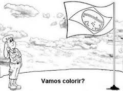 Independência do Brasil, Imagem para colorir, Grito de Dom Pedro I, em 07 de Setembro de 1822. Bandeira