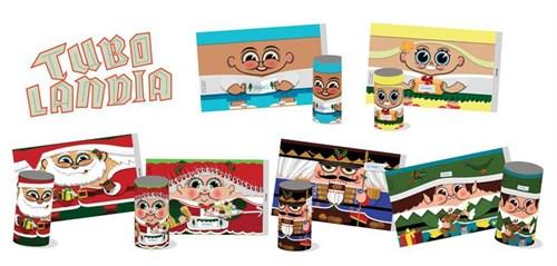 Cartões de Natal Ano Novo do – GRAACC – Combatendo e Vencendo o Câncer Infantil. Cartão Tubo