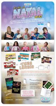 Cartões de Natal Ano Novo do – GRAACC – Combatendo e Vencendo o Câncer Infantil. Boas Festas