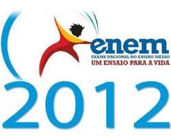 Enem 2012, Datas Das Provas 03 E 04 De Novembro – Datas Para Entrega Do Cartão De Confirmação.