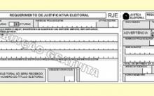 Formulário ou Modelo de Requerimento de Justificativa Eleitoral – Eleições 2012