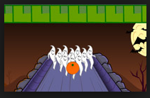Jogos online grátis halloween. Fantasma Bowling