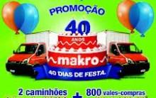 Promoção Makro, Cupons para o Sorteio de Caminhões – Aniversario/2012 – 40 Anos
