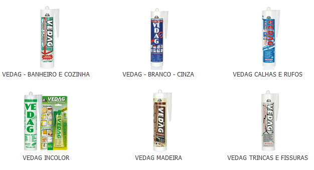 Vedag Super – Adesivo Vedante Elastoméricas De Alta Resistência. Vedag Diversos
