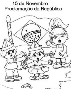 Desenhos Para Colorir, Pintar - Proclamação Da República Do Brasil – 15 De Novembro De 1889. 2