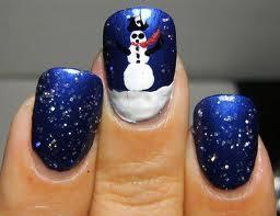 Unhas Decoradas boneco de neve