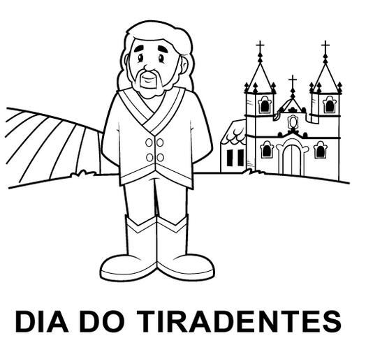 Imagem Para Pintar ou Colorir do Tiradentes.