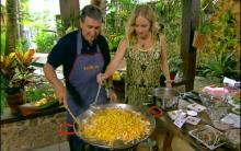 Receita Paella Um Prato Típico De Valência Na Espanha, Preparado Por Parreira – Programa Estrelas, Apresentado Por Angélica – Tv Globo Em 16/02/2013.