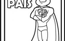 Desenhos para Colorir e Pintar para o Dias dos Pais – Imagens para Imprimir.