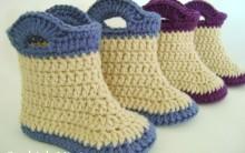 Ideais Botinha de Crochê Infantil – Modelos, Fotos e Passo a Passo.