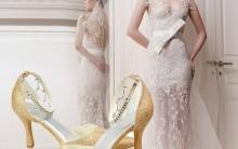 Tendência de Sapatos de Noiva com Strass e Flores – Dicas e Fotos.