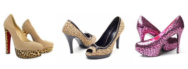 varios calçados animal print