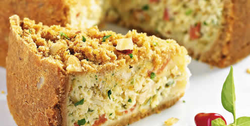 Especial torta de bacalhau cremosa