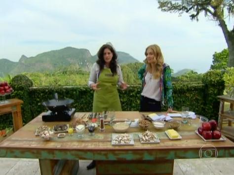 Receita de risoto de cogumelos e torta de maçã - programa estrelas, apresentado por angélica.