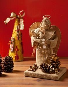 anjo de juta para natal1 235x300 Como Fazer Anjo de Juta Para o Natal   Modelos, Passo a Passo e Vídeo