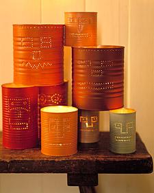 decoraçao-velas-em-latas