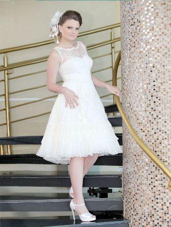 vestido curto romantico Tendência de Vestidos de Noiva Curtos   Fotos e Dicas