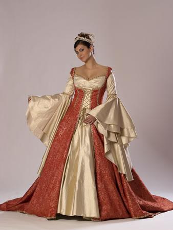 Vestido-noiva-colorido-marrom
