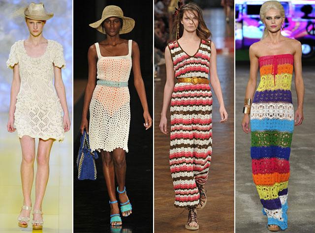artesanato vestidos em crochê