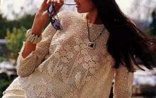 Blusas Modelos Rendados em Crochê – Fotos e Gráficos