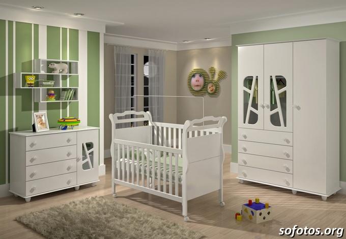 Como Montar o Quarto do Bebê Fotos e Dicas de Decoração ~ Quarto Tema Verde