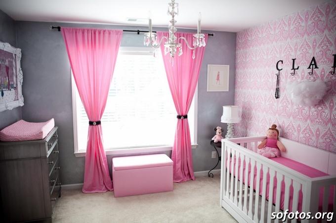 quarto-decoraçao-bebe-cinza-rosa