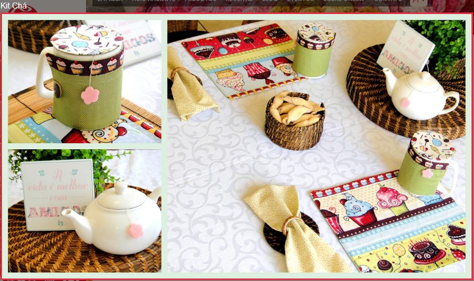 Kit chá de artesanato, feito com os tecidos da círculo - confira o passo a passo
