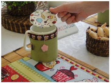 Kit chá de artesanato, feito com os tecidos da círculo4 - confira o passo a passo