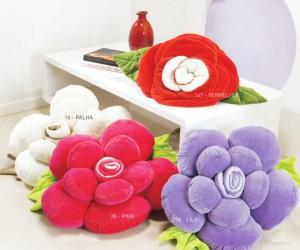 Como Fazer Almofada de Flor de Tecido – Fotos, Dicas e Passo a Passo