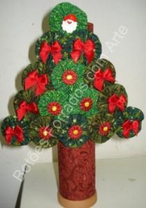 Modelos de Árvores de Natal Feitas de Fuxico – Artesanal- Dicas e Como Fazer