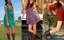 Como Combinar Botas Com Shorts e Vestidos – Fotos e Dicas