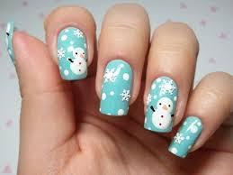 Unhas decoradas, natal azul.