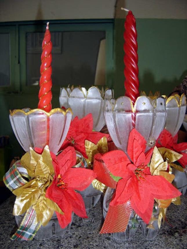 Aparador Sala De Estar ~ Decoraç u00e3o Para o Natal com Material Reciclado Dicas e Como Fazer