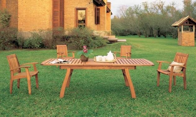 jardim quintal grande:Modelos de Mesas Para Jardim – Dicas e Onde Comprar