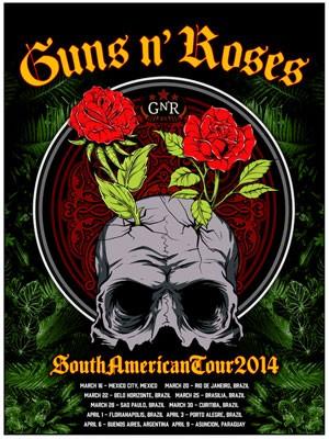 show guns Shows Guns N Roses Brasil 2014   Informações e Ingressos