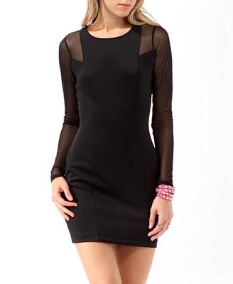 vestido-periguete-preto-manga-longa