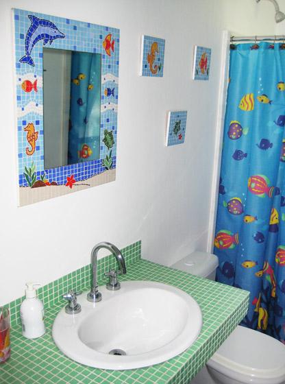 Modelos de Decoração de Banheiro Infantil  Fotos e Dicas -> Banheiro Simples Feminino