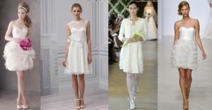 Tendência Vestido de Noiva Curto Para 2014 – Fotos e Modelos