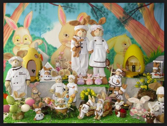 Decoração Para a Páscoa 2014 – Fotos e Como Fazer. Casal Coelhos