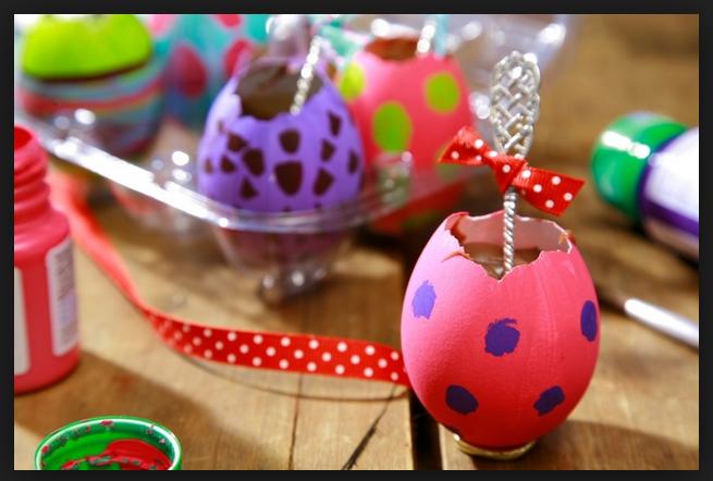 Decoração Para a Páscoa 2014 – Fotos e Como Fazer. Ovos coloridos