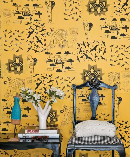 Como Decorar Sua Casa Alugada – Dicas e Faça Você Mesmo. Papel de parede.