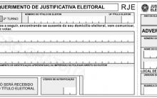 Formulário Ou Modelo De Requerimento De Justificativa Eleitoral – TSE
