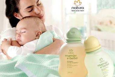 Linha natura cosméticos mamãe e bebe.