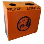 Descarte de pilhas e baterias. Coleta