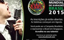 Karaokê KWC Etapa Brasil – Inscrições e Prêmio