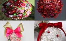 Bolas de Natal Usando Botões – Dicas de Como Fazer