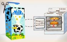 Assar Bolo em Caixas de Leite Usadas – Como Fazer, Receita e Video