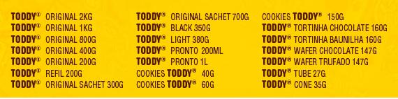 Toddy Cowza-produtos